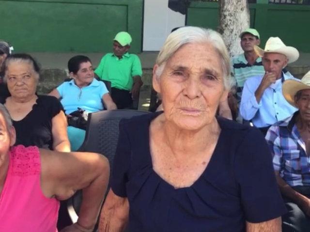 Emilia Maradiaga - beneficiada de la comunidad